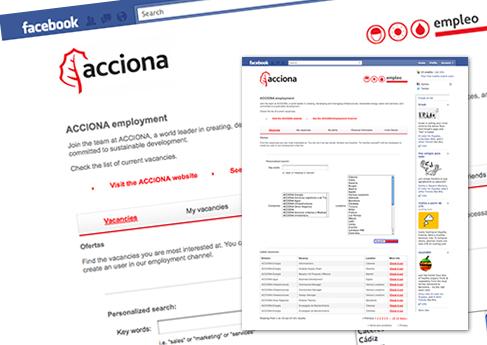 Acciona en Facebook. Soledad Arismendi - Web designer - Diseñadora web