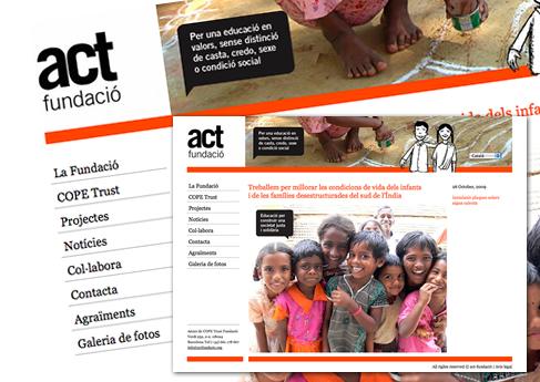 ACT-fundaci�. Soledad Arismendi - Web designer - Diseñadora web