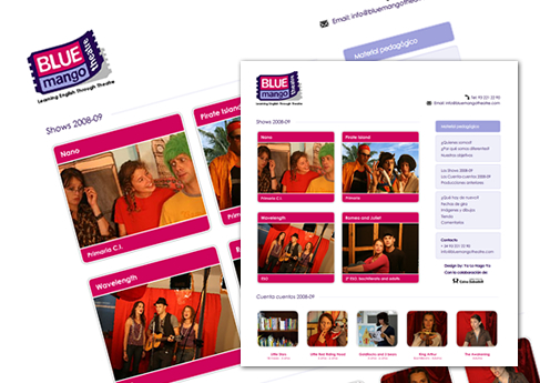 BlueMangoTheatre - Soledad Arismendi - Web designer - Diseñadora web