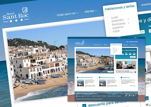 Hotel Sant Roc, Calella de Parafrugell. Soledad Arismendi - Web designer - Diseñadora web