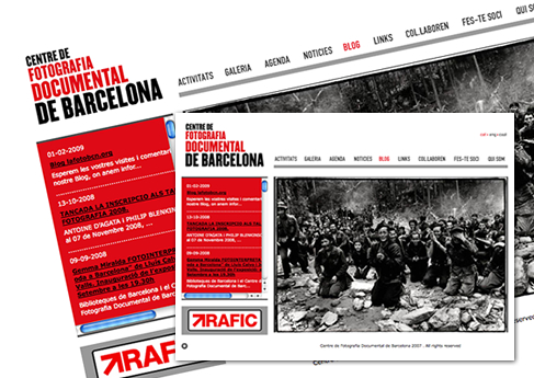 Centre de fotografia documental de Barcelona - Soledad Arismendi - Web designer - Diseñadora web