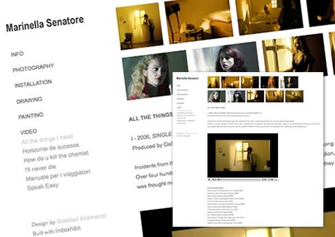 Marinella Senatore - Visual artist. Soledad Arismendi - Web designer - Diseñadora web