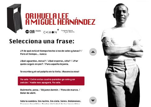 Orihuela Lee a Miguel Hernandez. Soledad Arismendi - Web designer - Diseñadora web